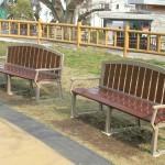 函館公園 木製ベンチ
