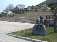 元町公園・自然石階段