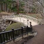 見晴公園 木橋・木製転落防止柵