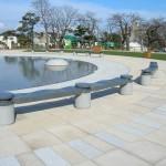 函館公園 石のベンチ